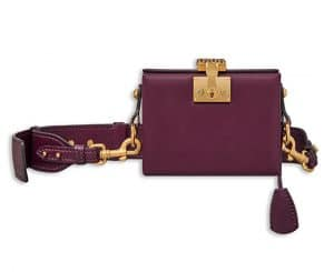 Dior Amaranth Calfskin Dioraddict Small Lockbox Bag