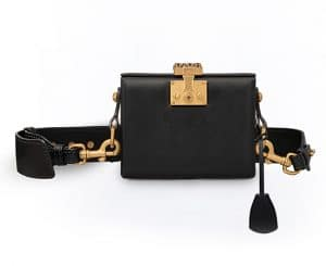 Dior Black Calfskin Dioraddict Small Lockbox Bag