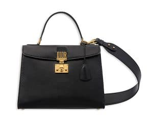 Dior Black Calfskin Dioraddict Top Handle Bag