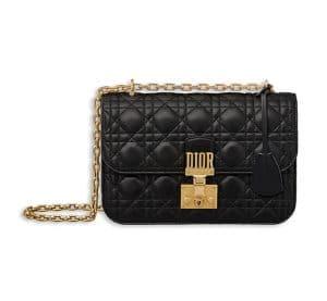 Dior Black Lambskin Dioraddict Flap Bag