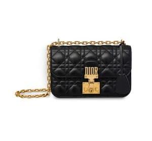 Dior Black Lambskin Dioraddict Small Flap Bag