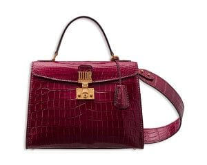 Dior Glossy Amaranth Nile Crocodile Dioraddict Top Handle Bag