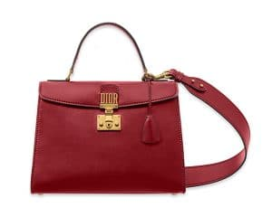 Dior Red Calfskin Dioraddict Top Handle Bag