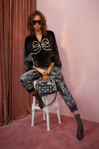 Fendi Black Pearl Embroidered Kan I and Mini Bags - Resort 2018
