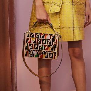 Fendi Multicolor FF Logo Kan I Bag - Resort 2018