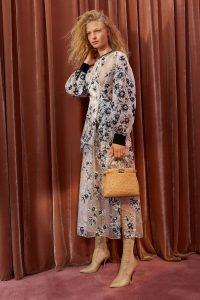 Fendi Tan Ostrich Mini Peekaboo Bag - Resort 2018