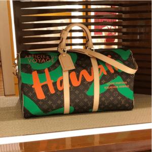 Louis Vuitton Green Hawaii Monogram Canvas Keepall Bandouliere 50 Bag