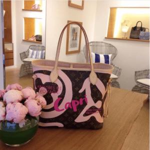 Louis Vuitton Light Pink Capri Monogram Canvas Tahitienne Neverfull Bag
