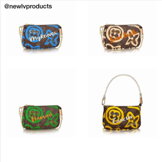 d0debbbae5f Louis Vuitton Monogram Canvas Tahitienne Mini Pochette Bags. IG   newlvproducts