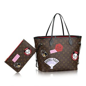 Louis Vuitton Neverfull MM My World Tour Bag 1