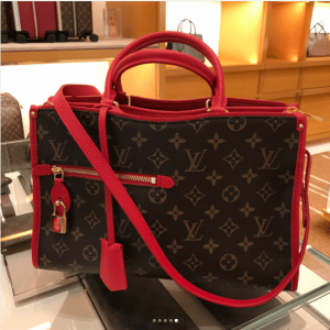 Louis Vuitton Red Monogram Canvas Popincourt PM Bag 1