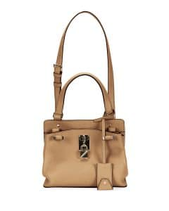 Valentino Beige Joylock Small Handle Bag