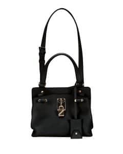 Valentino Black Joylock Small Handle Bag