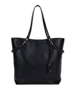 Valentino Black Lovestud Leather Tote Bag