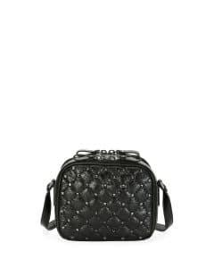 Valentino Black Rockstud Spike Crossbody Camera Bag