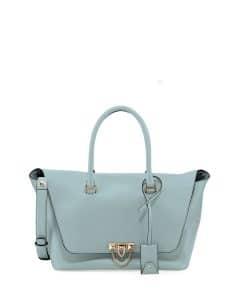 Valentino Light Blue Demilune Satchel Bag