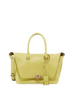 Valentino Lime Demilune Satchel Bag