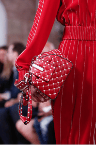 Valentino Red/White Rockstud Top Handle Bag - Resort 2018