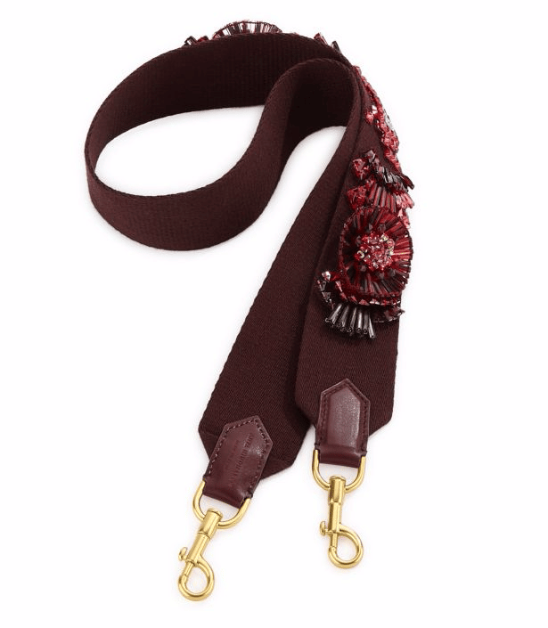 Anya Hindmarch Floral-Embroidered Leather Guitar Shoulder Strap