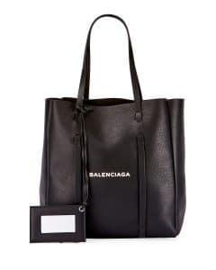 Balenciaga Black/White Logo Everyday XS Tote Bag