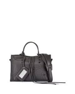 Balenciaga Gray Blackout Small City Bag