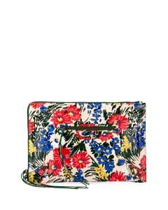 Balenciaga Multicolor Floral Print Classic Flat Zip Pouch Bag
