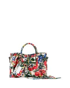 Balenciaga Multicolor Floral Print Classic Small City Bag