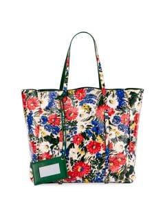 Balenciaga Multicolor Floral Print Everyday Tote Bag