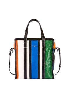 Balenciaga Multicolor Striped Bazar Shopper S Bag