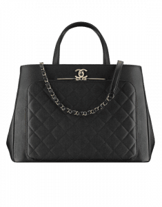 Chanel Black Business Affinity Large Shopping Bag