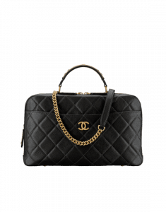 Chanel Black Carry Around Large Bowling Bag