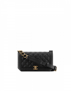Chanel Black Grained Calfskin Small Flap Bag