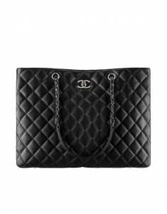 Chanel Black Quilted Large Shopping Bag