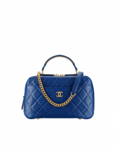 Chanel Blue Carry Around Bowling Bag