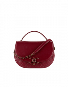 Chanel Burgundy Coco Curve Messenger Bag