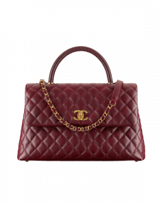 Chanel Burgundy Coco Handle Medium Bag