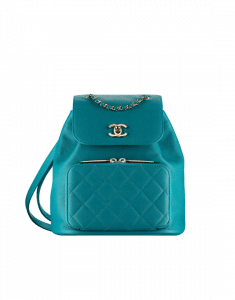 Chanel Green Business Affinity Backpack Bag
