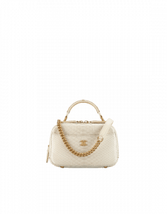 Chanel Ivory Python Carry Around Mini Bowling Bag