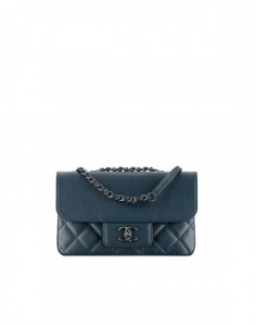 Chanel Navy Blue All About Caviar Flap Bag