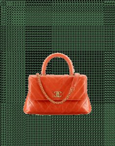 Chanel Orange Coco Handle Mini Bag