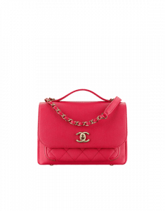 Chanel Red Business Affinity Medium Top Handle Bag