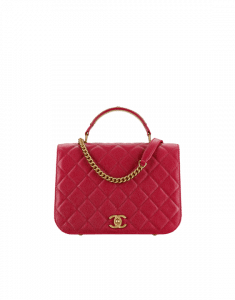 Chanel Red Carry Around Large Flap Bag
