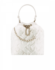 Chanel White Orylag Drawstring Bag