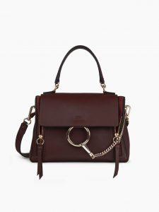 Chloe Carbon Brown Faye Small Day Bag