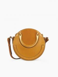 Chloe Mustard Brown Small Pixie Bag
