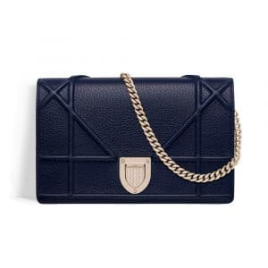 Dior Indigo Blue Diorama Wallet on Chain Pouch Bag