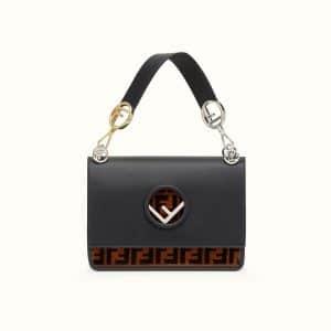 Fendi Black FF Pattern Kan I F Bag