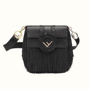Fendi Black Fringed Baguette Bag