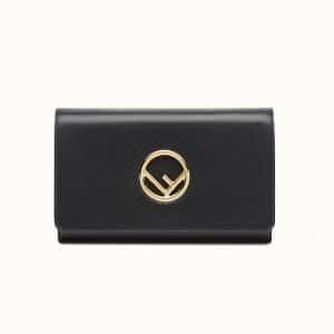 Fendi Black Logo Wallet on Chain Bag