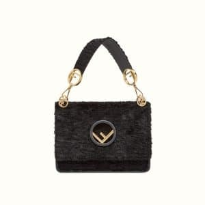 Fendi Black Velvet Kan I F Bag